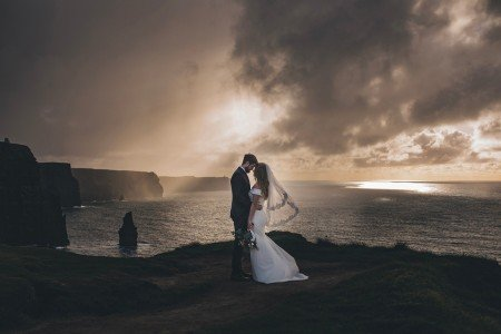 Chanel & Jason's Cliffs of Moher Elopement
