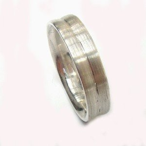 Concave Satin Finish Ring