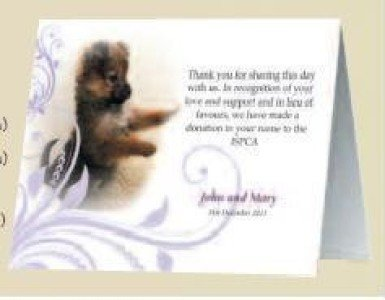 Favours - ISPCA - Wedding Favours & Gifts that make a difference