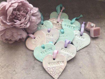 Favours - Personalised Ceramic Hearts