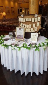 Rustic Table Plan Option - Our Suitcase/ Hotel Wedding Venues | Great National Abbey Court Hotel