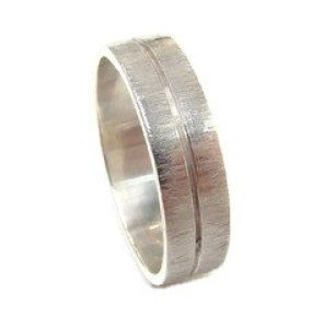 Poished Groove  & Scratch Finish Ring