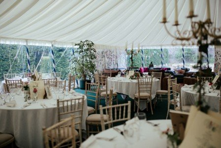 Marquee in The Walled Garden
