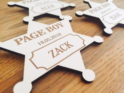 Wedding Page boy badge