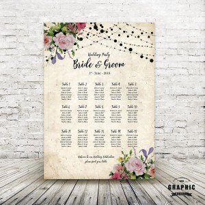 Rustic Rose Table Plan