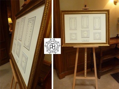 Silver Wedding Table Plan @ Waterford Castle Hotel