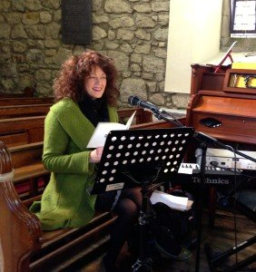 Sound checking in a beautiful little church in county Wicklow.