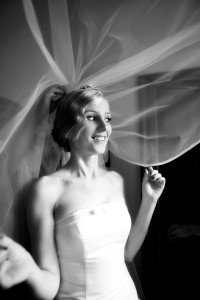 bride putting on the veil, veil shot, documentary style, natural, reportage, candid, black and white, real wedding Adare Manor