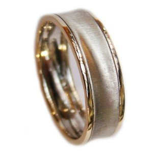 Two Tone Concave Ring